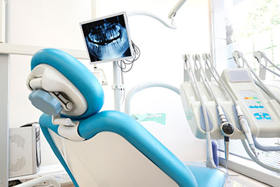 X-ray being shown at Manhattan Maxillofacial Surgery Group in New York, NY